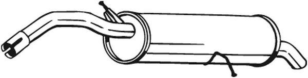 Zadní tlumič výfuku BOSAL 135-105