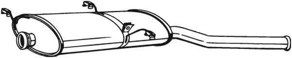 Zadní tlumič výfuku BOSAL 135-235