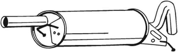 Zadní tlumič výfuku BOSAL 233-119