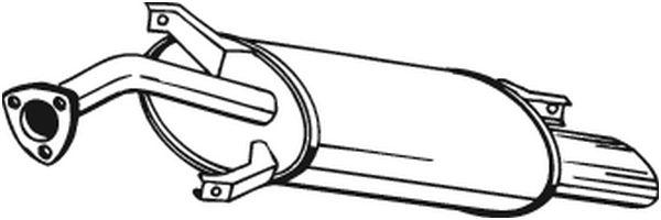 Zadní tlumič výfuku BOSAL 235-135