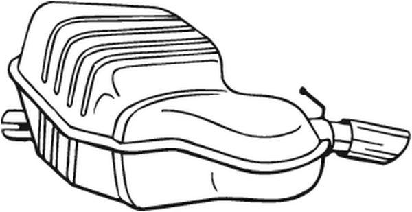 Zadní tlumič výfuku BOSAL 235-149