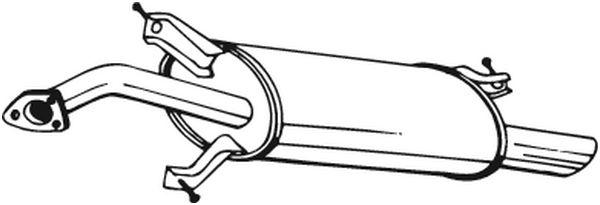 Zadní tlumič výfuku BOSAL 235-161
