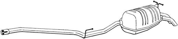 Zadní tlumič výfuku BOSAL 289-119