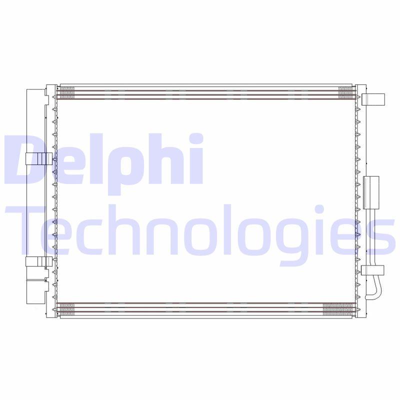 Kondenzátor klimatizace DELPHI CF20304