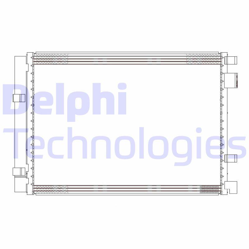 Kondenzátor klimatizace DELPHI CF20306