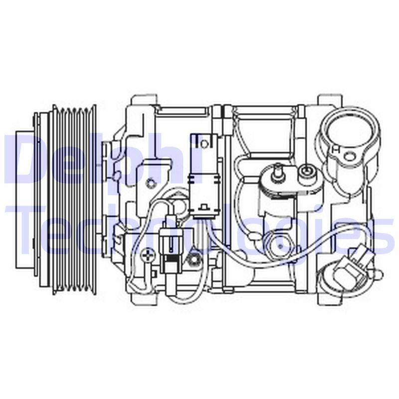 Kompresor klimatizace DELPHI CS20545